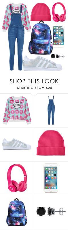 """""""Going to school"""" by epiczp ❤ liked on Polyvore featuring WithChic, Rebecca Minkoff, adidas Originals, Orwell + Austen, Apple and BERRICLE"""