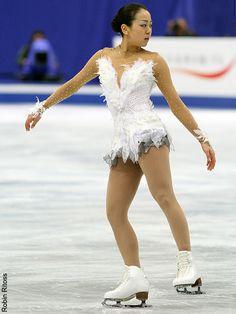 Mao Asada -White Figure Skating / Ice Skating dress inspiration for Sk8 Gr8 Designs.