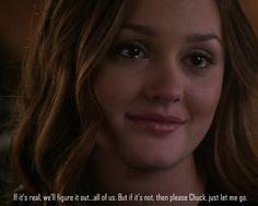 If it's real we'll figure it out...all of us.  But if it's not, then please Chuck, just let me go.
