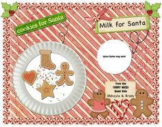 Aww!  Personalized placemat for Santa made from an 11x14 print!  www.heritagemakers.com/jenniferwise