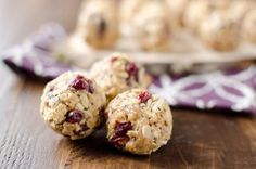 Cranberry Almond Energy Bites are a protein packed recipe that you can store in your freezer for a healthy and convenient snack or breakfast!