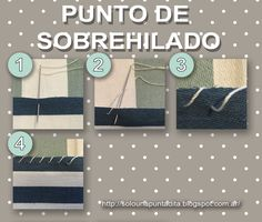 Sólo una puntadita...: Empezamos a coser: Punto de Sobrehilado o Surfilado How To Make Clothes, Making Clothes, Embroidery Patterns, Hand Sewing, Louis Vuitton Damier, 1, Textiles, Quilts, Fabric