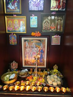 Diwali Decorations, Flower Decorations, Hindu Quotes, Pooja Mandir, Pooja Room Door Design, Home Temple, Puja Room, Prayer Room, Indian Home Decor