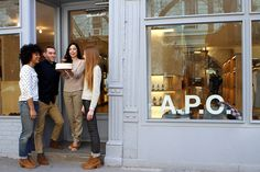 Turns out we should all be friends with the delightful crowd at the A.P.C. Store on West 4th Street in NYC. Just look at em.