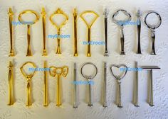 5 x 2 tier Cake Stand Fittings HEAVY Handles for DIY  by myEroom, $19.99