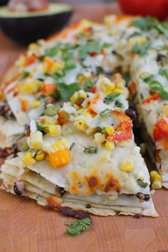 Corn and Black Bean Tortilla Tart - Hip Foodie Mom