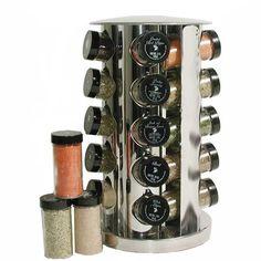 Kamenstein 20 Jar Stainless Steel Revolving Spice Rack