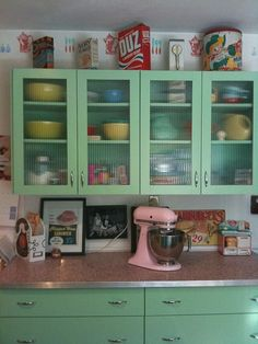 fifties kitchen cabinet