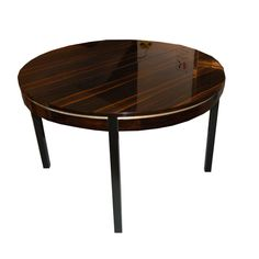 Round French Art Deco Dining Table | From a unique collection of antique and modern dining room tables at http://www.1stdibs.com/furniture/tables/dining-room-tables/