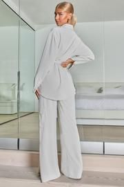 Christmas Outfits – Club L London - USA Festival Dress, Festival Fashion, Trouser Co Ord, Gold Strappy Heels, White Two Piece, Cigarette Trousers, One Shoulder Tops, Dress Codes, Simple Style