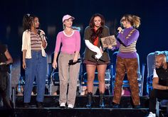 Little Mix performing at the TCA