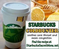 Starbucks Secret Menu Teas, Starbucks Hacks, Starbucks Tea, Starbucks Recipes, Starbucks Refreshers, Drinks For Sore Throat, Sooth Sore Throat, Tea Recipes, Coffee Recipes