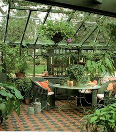 Sunroom, indoor greenhouse, plants, four season harvest.. garden