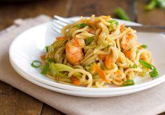 Stir Fried Noodles with Shrimp and Vegetables {Filipino Pancit Canton} Recipe - RecipeChart.com