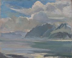 Lac Léman, Haut-Lac, Lake LémanGeneva -  Ami-Ferdinand Duplain , 1944-56.    Swiss, 1896-1966    Oil on isorel,