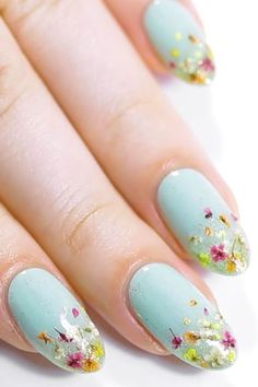 20 Flower Nail Art Design Ideas - Easy Floral Manicures for Spring and Summer Beautiful Flower Designs, Flower Nail Designs, Diy Nail Designs, Colorful Nail Designs, Nail Designs Spring, Floral Designs, Floral Nail Art, Nail Art Diy, Diy Nails