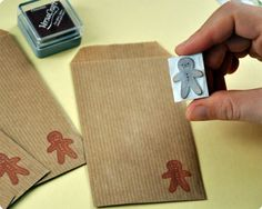 gingerbread man stamp