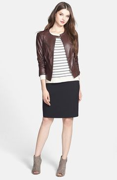 Free shipping and returns on Halogen® Leather Jacket & Pencil Skirt, Caslon® Sweater at Nordstrom.com.