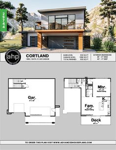 Modern Style Apartment Garage- add a bedroom Carriage House Plans, Small House Plans, House Floor Plans, Garage Guest House, Garage Apartment Plans, Casas Containers, Modern Garage, Garage Design, House Layouts