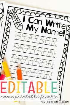 Name Writing Practice - Handwriting FREEBIE