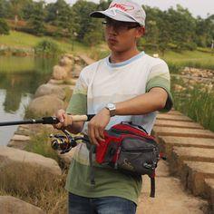 Sougayilang Fishing Gear Tackle Bag Manufacturers Of Outdoor Sport Camping Fishing Lure Bag Accessories Purse Fishing Bag(red)(China (Mainland))