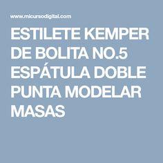 ESTILETE KEMPER DE BOLITA NO.5 ESPÁTULA DOBLE PUNTA MODELAR MASAS