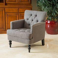 Medford Charcoal Grey Fabric Club Chair-$228.99-Amazon