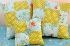 Tutorial: How to Make a Nine Patch Pillow | Flickr - Photo Sharing!