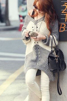 Click on photo to see more info.Fashion V Neck Asymmetric Loose Casual Sweater, womens sweaters dresses,sexy sweater,girls sweaters,discount sweaters,mini sweaters,wool sweaters,cheap sweaters,fashion sweater coats,designer sweaters
