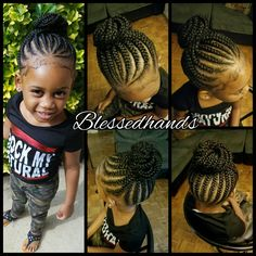 Little girls' feedin braids by @divawithhustle
