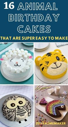 Animal Birthday Cakes, Funny Birthday Cakes, 2nd Birthday, Birthday Ideas, Easy Birthday Cake Recipes, Homemade Birthday Cakes, Animal Cakes For Kids, Cake Designs For Kids, Dolphin Cakes