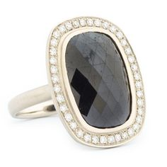 Black Allure Cushion Rosecut Diamond Ring | One of a Kind Jewellery | Anne Sportun Fine Jewellery Style! ... a girl can dream!