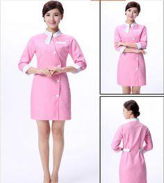 f27fdbd41 Uniforme da enfermeira vestido uniformes salão de Beleza roupas Esteticista  Esteticista macacão Médico em Médico de Novidade e de uso especial no ...