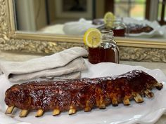 Here is the foolproof method to making fall-off-the-bone baby back ribs in the oven that will likely be the best ribs you've ever put in your mouth. Rib Recipes, Fall Recipes, Cooking Recipes, Smoker Recipes, Recipes Dinner, Bbq Ribs, Pork Ribs, Pork Loin, Fall Off The Bone Ribs Recipe