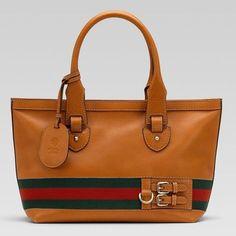 Gucci Heritage Medium Tote 257085 In Brown