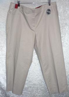6c35115c25 Apt 9 Womens Plus Capri Pants Straight Comfort Waist Solid size 24W NEW  16.99 http