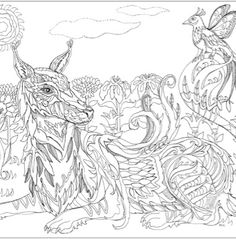 104 Best Coloring Pages (Dogs, Wolves, Foxes) images