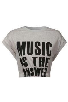 4871a58b8025f Glamorous Music Crop T-Shirt Republic