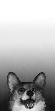 43 Ideas Wallpaper Iphone Art Design Ideas For 2019 Corgi Wallpaper Iphone, Dog Lockscreen, Bulldog Wallpaper, Cute Dog Wallpaper, Animal Wallpaper, Wallpaper Ideas, Pattern Wallpaper, Cute Puppies, Cute Dogs