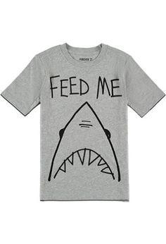 Feed Me Shark Tee (Kids) | FOREVER 21 BOYS - 2000052594