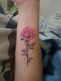 Rose Tattoo Color Pink Beautiful 33 Ideas For 2020 Dream Tattoos, Mom Tattoos, Couple Tattoos, Body Art Tattoos, Sleeve Tattoos, Tatoos, 3 Roses Tattoo, Pink Rose Tattoos, Flower Tattoos