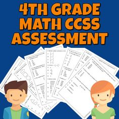 4th grade math assessment or 5th grade pre-assessment covering 22 math common core state standards. Operations and Algebraic Thinking, Number and Operations - Fractions, Number and Operations in Base Ten, Measurement and Data, Geometry. 22 multiple-choice questions.7 pages2 versions of 1st page (4th... Math Assessment, 4th Grade Math, Multiple Choice, 5th Grades, Fractions, Elementary Schools, Geometry, Core, Classroom