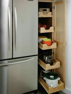 Make existing pantry slide out drawers like this
