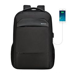 Man Laptop Backpack Usb Charging Computer Backpacks For Teenager Casual Style Bags Large Business Travel C Black