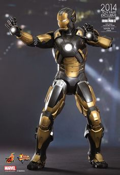 """""""Everybody needs a hobby."""" Tony Stark's hobby was building quite a number of armor suits for the """"House Party Protocol"""" in Iron Man 3 and . Iron Man 2008, Iron Man Art, Coleccionables Sideshow, Hot Toys Iron Man, Marvel E Dc, Marvel Comics, Iron Man Avengers, Ironman, Comic Movies"""