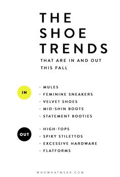 The Shoe Styles That Are In and Out for Fall | WhoWhatWear