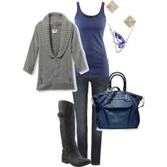 A fashion look from August 2012 featuring cocoon cardigan, h&m shirts y low rise skinny jeans. Browse and shop related looks.