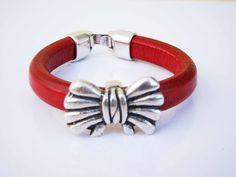 Sales & orders: 4me.bijuteria@gmail.com    Red leather bracelet with loop | Refª PLÇ003 - 10€