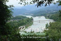 Dujiangyan Irrigation System Tours ChengDu WestChinaGo Travel Service www.WestChinaGo.com Tel:+86-135-4089-3980 info@WestChinaGo.com Chengdu, Irrigation, Tours, River, Mountains, Nature, Outdoor, Outdoors, Naturaleza