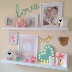 Shelves are up!!  #SkylaIsabelle #Shelfie #girlsroom #interiorstyling #habituebrandrep #7vignettes @interiorsaddict @keeki_mystyle @olliesroom #olliesroomrep #nurserydecor #kidsroom #kmart #eeflillemor #arloandco